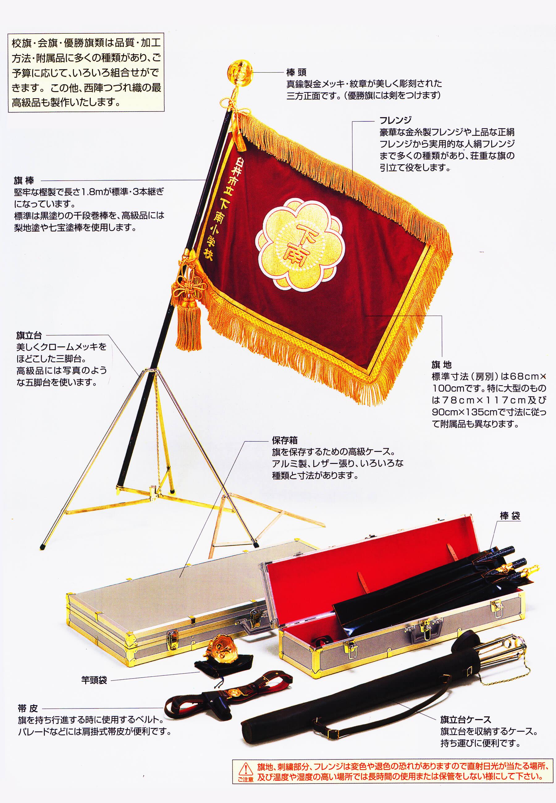 オリジナルの旗・付属品のサンプル写真