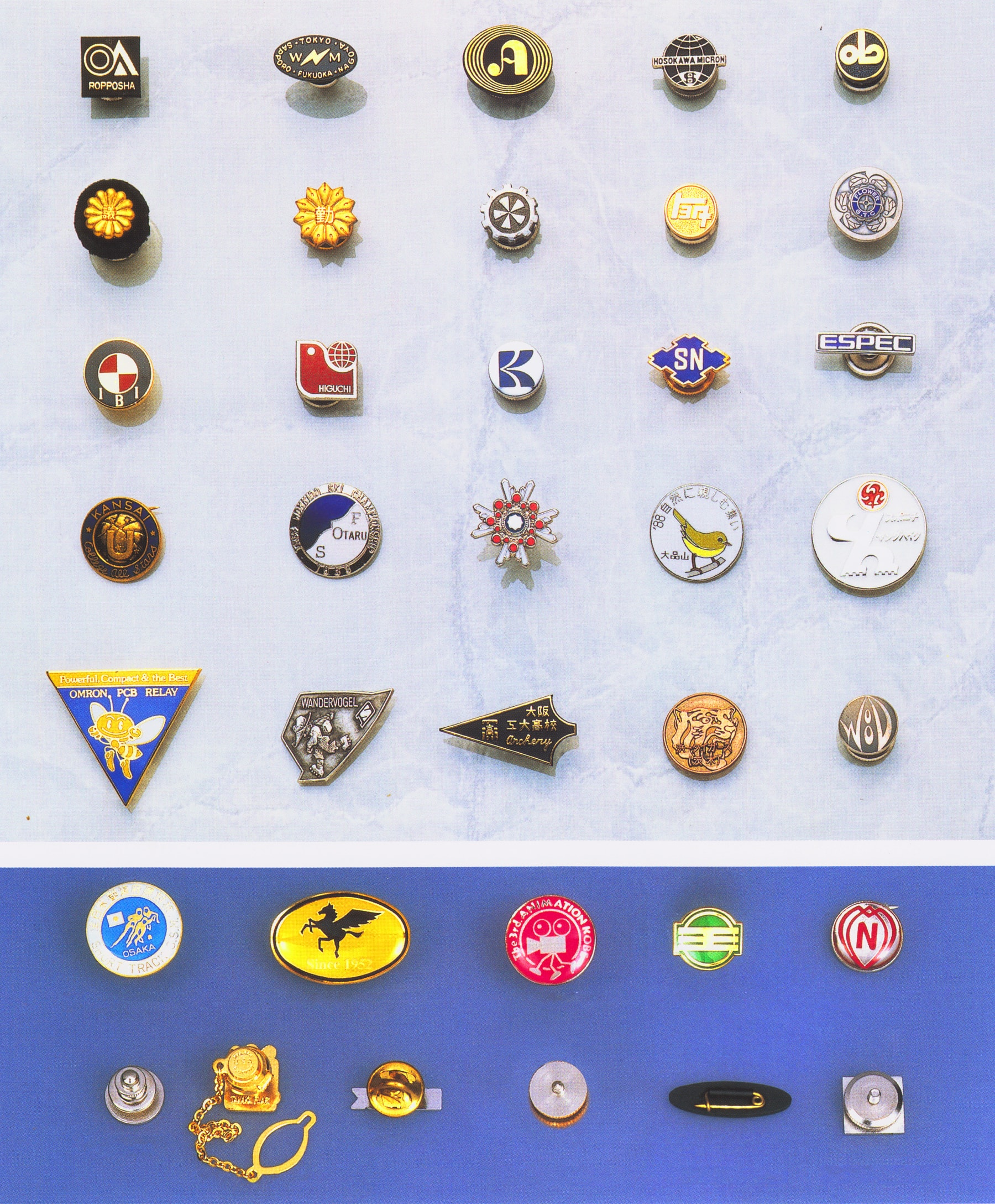 徽章のサンプル写真