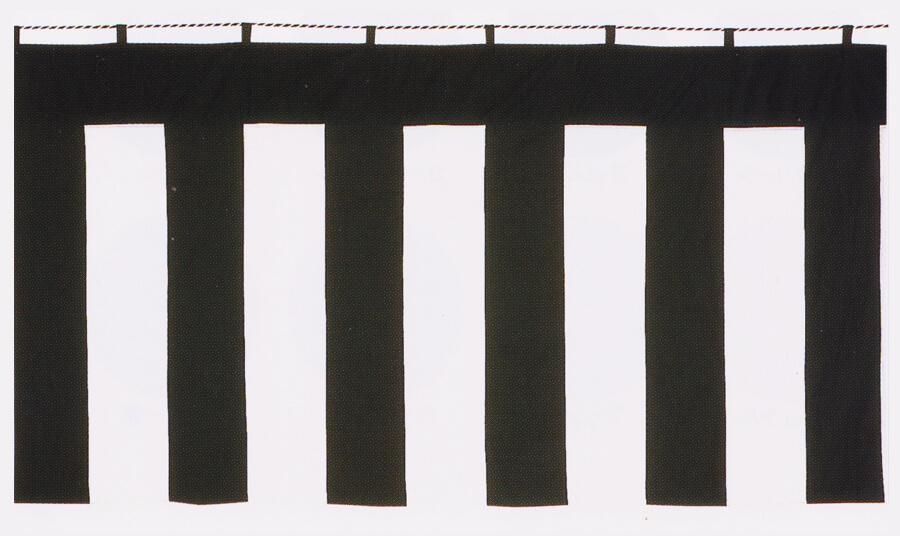 黒白幕のサンプル写真